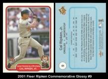 2001 Fleer Ripken Commemorative Glossy #9