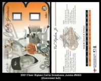 2001 Fleer Ripken Cal to Greatness Jumbo #NNO