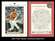 2001 Fleer Ripken Commemorative #13