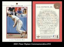 2001 Fleer Ripken Commemorative #15