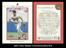 2001 Fleer Ripken Commemorative #16