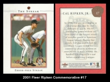 2001 Fleer Ripken Commemorative #17