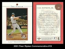 2001 Fleer Ripken Commemorative #19