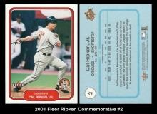 2001 Fleer Ripken Commemorative #2