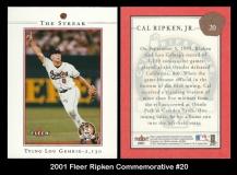 2001 Fleer Ripken Commemorative #20