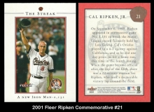 2001 Fleer Ripken Commemorative #21