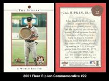 2001 Fleer Ripken Commemorative #22