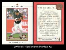 2001 Fleer Ripken Commemorative #23