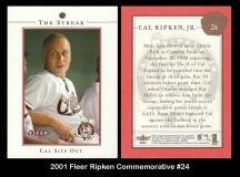 2001 Fleer Ripken Commemorative #24
