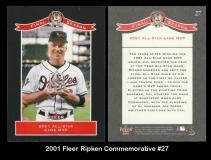 2001 Fleer Ripken Commemorative #27