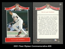2001 Fleer Ripken Commemorative #28