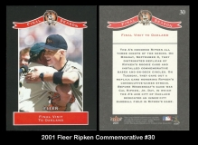 2001 Fleer Ripken Commemorative #30