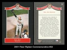 2001 Fleer Ripken Commemorative #32
