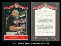 2001 Fleer Ripken Commemorative #34