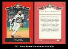 2001 Fleer Ripken Commemorative #36