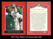 2001 Fleer Ripken Commemorative #38