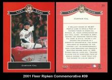 2001 Fleer Ripken Commemorative #39