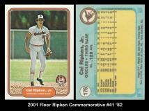 2001 Fleer Ripken Commemorative #41 '82