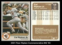 2001 Fleer Ripken Commemorative #42 '83