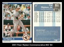 2001 Fleer Ripken Commemorative #43 '84