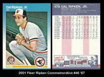 2001 Fleer Ripken Commemorative #46 '87