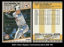 2001 Fleer Ripken Commemorative #48 '89