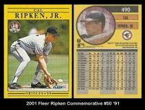 2001 Fleer Ripken Commemorative #50 '91
