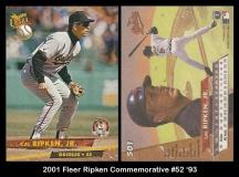 2001 Fleer Ripken Commemorative #52 '93