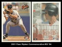 2001 Fleer Ripken Commemorative #53 '94