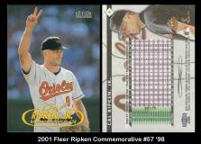 2001 Fleer Ripken Commemorative #57 '98