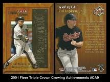 2001 Fleer Triple Crown Crowning Acheivements #CA9
