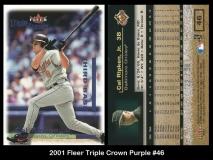 2001 Fleer Triple Crown Purple #46