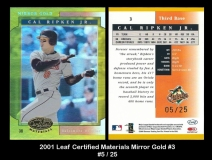 2001 Leaf Certified Materials Mirror Gold #3