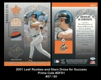 2001 Leaf Rookies and Stars Dress for Success Prime Cuts #DFS1