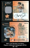 2001 Leaf Rookies and Stars Players Collection Autographs #PC6