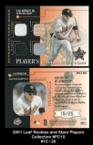 2001 Leaf Rookies and Stars Players Collection #PC10