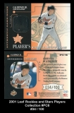 2001 Leaf Rookies and Stars Players Collection #PC8