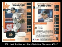 2001 Leaf Rookies and Stars Statistical Standouts #SS12