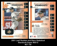 2001 Leaf Rookies and Stars Statistical Standouts Super #SS12