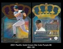 2001 Pacific Gold Crown Die Cuts Purple #8