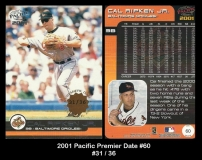 2001 Pacific Premier Date #60