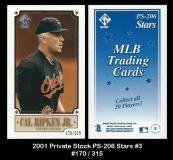 2001 Private Stock PS-206 Stars #3