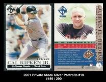 2001 Private Stock Silver Portraits #19