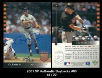 2001 SP Authentic Buybacks #63