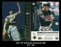 2001 SP Authentic Buybacks #64