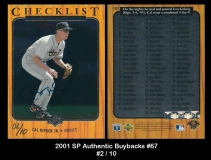 2001 SP Authentic Buybacks #67