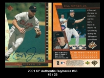 2001 SP Authentic Buybacks #68