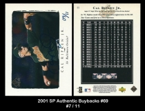 2001 SP Authentic Buybacks #69