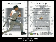 2001 SP Authentic #142