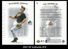 2001 SP Authentic #19